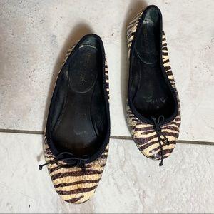 Yves Saint Laurent ballet flats zebra print 35 euc